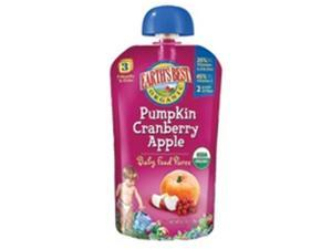 Earth's Best Baby Foods 1976 Earth's Best Pumpkin Cranberry Apple Puree - 2x6x4.2Oz- pack of 12