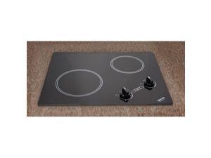 Kenyon B41603 Arctic Series 2-burner Cooktop- black with analog control- 6 .50 & 8 inch 120V UL