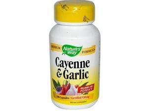Natures Way Cayenne And Garlic - 100 Capsules