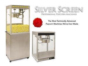 Benchmark USA 11147 Silver Screen Popcorn Machine - 14 Oz