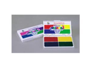 CENTER ENTERPRISES CE-SA541 STAMP PAD ELECTRIC WASHABLE-HOT PINK PURPLE TURQ. LIME GREEN