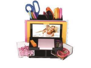 Officemate International Corp 23112 VersaPlus Desk Organizer 6x5x5.5 Black