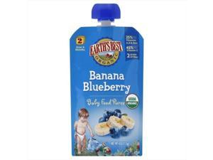Earths Best Baby Puree Banana Blueberry, 4 Oz, Pack Of 6
