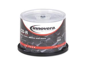 CD-R Discs, 700MB/80min, 52x, Spindle, Silver, 50/Pack 77950