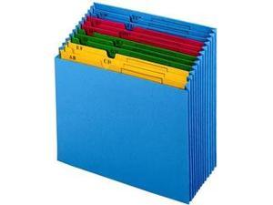"Globe-Weis 20134 QuickVue Project File 11"" Width x 12"" Length Sheet Size - 12 Pockets - Paper - Blue - 1 Each"
