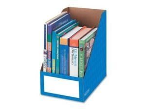 "Bankers Box 3380901 8"" Magazine File Holders, Blue - 3 / Pack, 1 Pack"