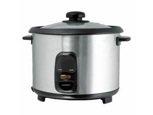 Brentwood TS-15 8 Cup - 1.5 Liter - Rice Cooker - Stainless Steel