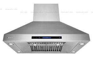 XtremeAir PX07-I36, 36'' Wide, 900 CFM, Easy Clean swing-able baffle Filters, Stainless Steel, Island Mount Range Hood