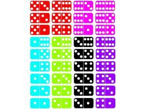 Ashley Productions ASH11302 Math Die Cut Magnets Dominoes
