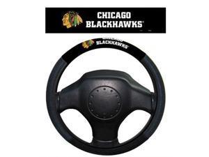 Fremont Die Inc Chicago Blackhawks Poly-Suede Steering Wheel Cover Steering Wheel Cover