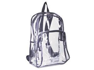 Eastsport 193971BJBLK Backpack, PVC Plastic, 12 1/2 x 17 1/2 x 5 1/2, Clear