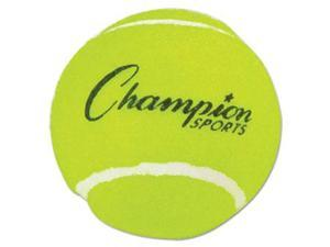 Champion Sport TB3 Tennis Balls, 2 1/2'' Diameter, Rubber, Yellow, 3/Pack