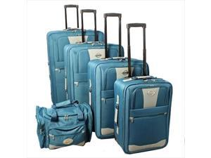 f7c4a8c2fc Transworld 731700-TEAL Expandable Wheeled Upright Luggage ...
