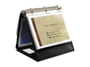 Lion Office Products LIO40008BK Ring Binder Easel- .75in. Cap- Horizontal- 11in.x8-.50in.- Black