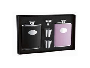 Visol VSET41 Union His & Her 6oz Hip Flask Gift Set