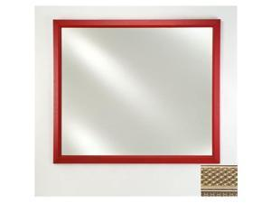 Afina Corporation FM2436ELGSV 24 in.x 36 in.Signature Plain Mirror - Elegance Silver