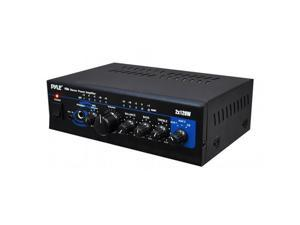 PYLE PTA4 Mini Stereo Power Amplifier - 2 x 120 Watt with AUX  CD and Mic Inputs