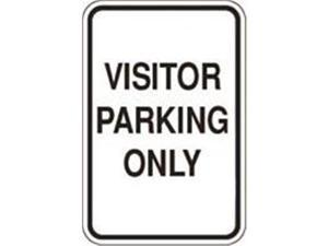 Olympia Sports SA277P 12 in. x 18 in. Sign - Visitor Parking Only