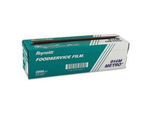 "Reynolds Wrap Metro Light-Duty PVC Film Roll w/Cutter Box 18"" x 2000ft Clear"