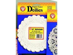 DOILIES 6 WHITE ROUND 100/PK