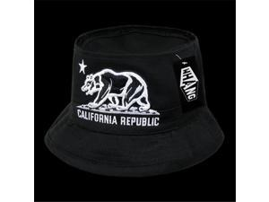 Decky W45-CRB-BLK-06 California Republic Bear Fisherman Hat ... 773f23948ba0