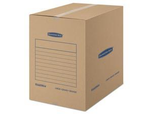 Fellowes Manufacturing 7714001 Smoothmove Basic Moving Boxes, Kraft - 18 L x 18 W x 24 H in.