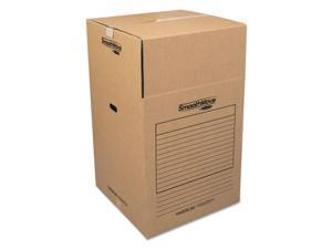 Fellowes Manufacturing 7711001 Smoothmove Wardrobe Boxes, Kraft - 24 L x 24 W x 40 H in.