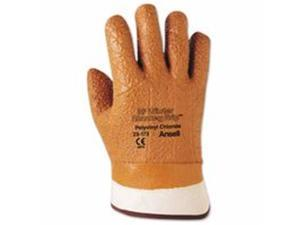 Ansell 012-23-173-10 Vinyl Gloves, 10, Orange