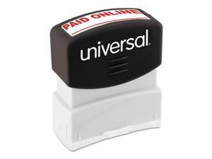 Universal Office Products 10156 Message Stamp, Paid Online - Red