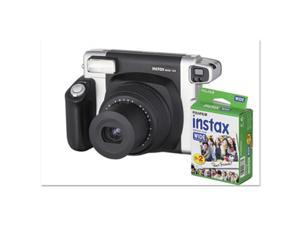 Fuji Photo Film USA 600015500 16 Mp Instax Wide 300 Camera Bundle, Auto Focus - Black