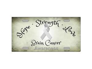 Smart Blonde LP-8302 Brain Cancer Novelty Metal License Plate