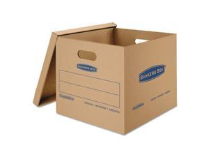 Fellowes Manufacturing 7717201 Smoothmove Classic Moving And Storage Boxes, Kraft - 18 L x 15 W x 14 H in.