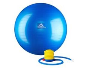 Black Mountain Products 65cm Blue Gym Ball 65 cm. Static Strength Exercise Stability Ball, Blue