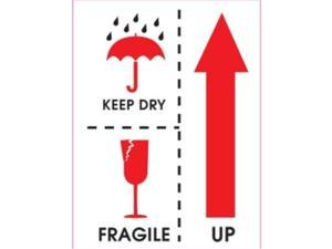 Ace Label 34009F 3 in. x 4 in. Keep Dry/Fragile/Up