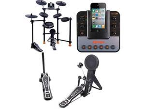 FINE ELITE INTERNATIONAL LTD IROCKER All-In-One Electronic Drum Set for IPod-IPhone with Metronome