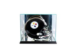 Perfect Cases FBHR-B Rectangle Football Helmet Display Case, Black