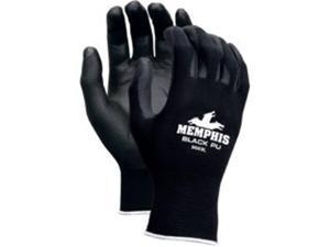 Crews 9669XS Nylon Gloves, Black - Small