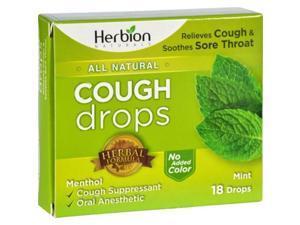 Herbion Naturals 1640069 Cough Drops - All Natural, Mint - 18 Drops