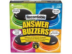 LEARNING RESOURCES RECORDABLE ANSWER BUZZERS SET OF 4 3769
