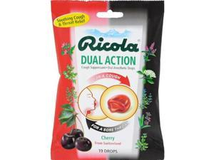 Ricola HG0639872 Cherry Dual Action Cough Drops - Pack of 19, Case of 12