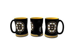 Boelter Brands 4675709839 14 oz Boston Bruins Sculpted Relief Coffee Mug