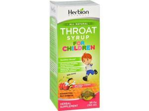 Herbion Naturals HG1645035 5 oz Throat Syrup - All Natural Cherry for Children