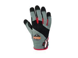 Ergodyne 17123 Proflex 710Cr Heavy-Duty + Cut Resistance Gloves, Gray, Medium, 1 Pair