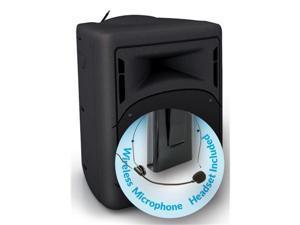 Oklahoma Sound PRA-8000-PRA8-7 40 watt Wireless PA System with WirelessHeadset Microphone