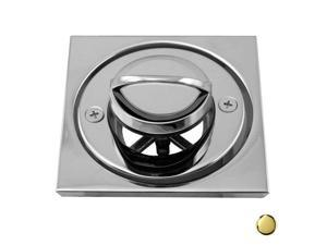 Westbrass D3201-01 Roman Tub Drain with D315 Tile Square - PVD Polished Brass