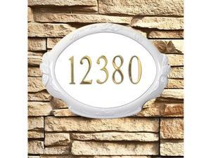 Special Lite Products SAP-4110-WH Floral Address Plaque - White