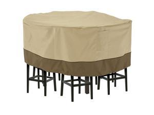 Classic Accessories 55-781-041501-00 Veranda Tall Round Patio Table & Chairs Cover Pebble, Large