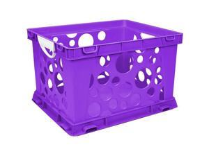 Storex Industries 6145U03C-61459 Classroom File Crate with Handles, Purple