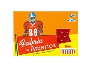 Autograph Warehouse 343193 Sam Aiken Player Worn Jersey Patch Football Card - North Carolina Tar Heels 2003 Topps All American No. FASA Rookie