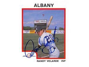 Autograph Warehouse 344638 Randy Velarde Autographed Baseball Card - Minor League, Albany Yankees 1987 ProCards No. 745